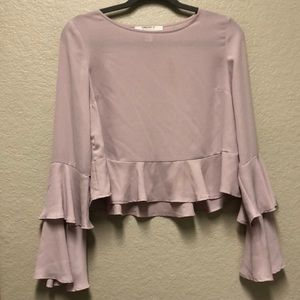 Ruffled forever 21 blouse